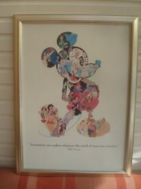 Mickey Mouse Walt Disney World Framed print 23' w 30' h