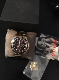 Mens Gold Guess Watch
