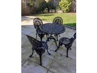 Cast aluminium patio furniture set
