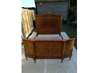 French antique bed surround with marquetry