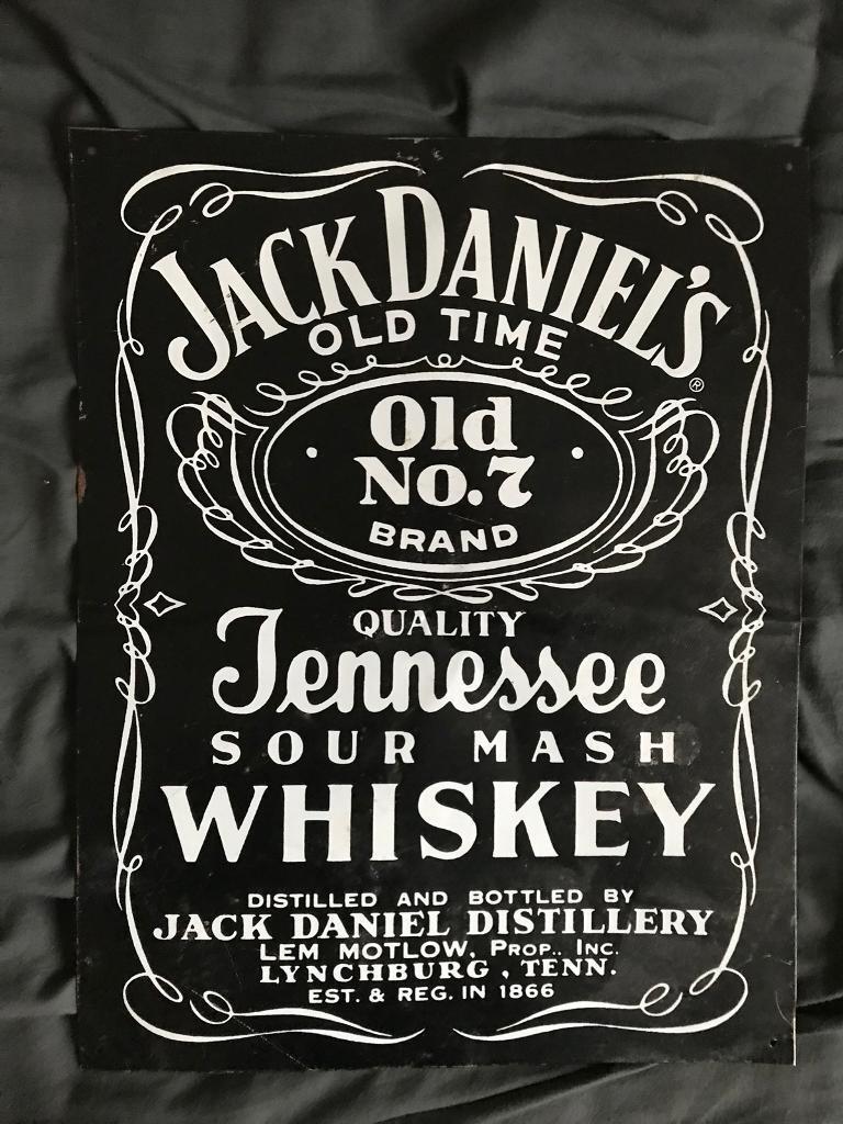 Old Jack Daniels Metal Sign
