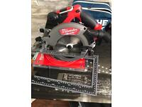 Milwaukee 18v Fuel brand new skill saw 2x 18v 4ah batteries and charger + case