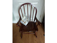 Lovely Traditional Childs Wooden Rocking Chair - Excellent condition