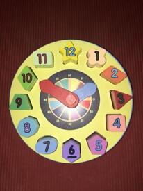 Melissa & Doug wooden clock