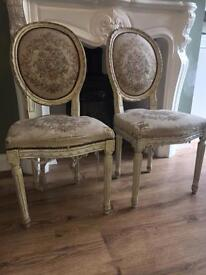 Restoration Project. Set of 4 dinning chairs.