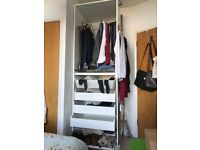 Ikea wardrobe with shelving for sale £30, collection only.