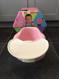 Pink Bumbo with tray. Boxed.