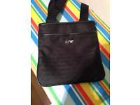 Armani jeans messenger bag pouch nylon print black