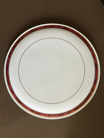 Royal Worcester Medici Ruby Cheese or Gateau Platter with Slice