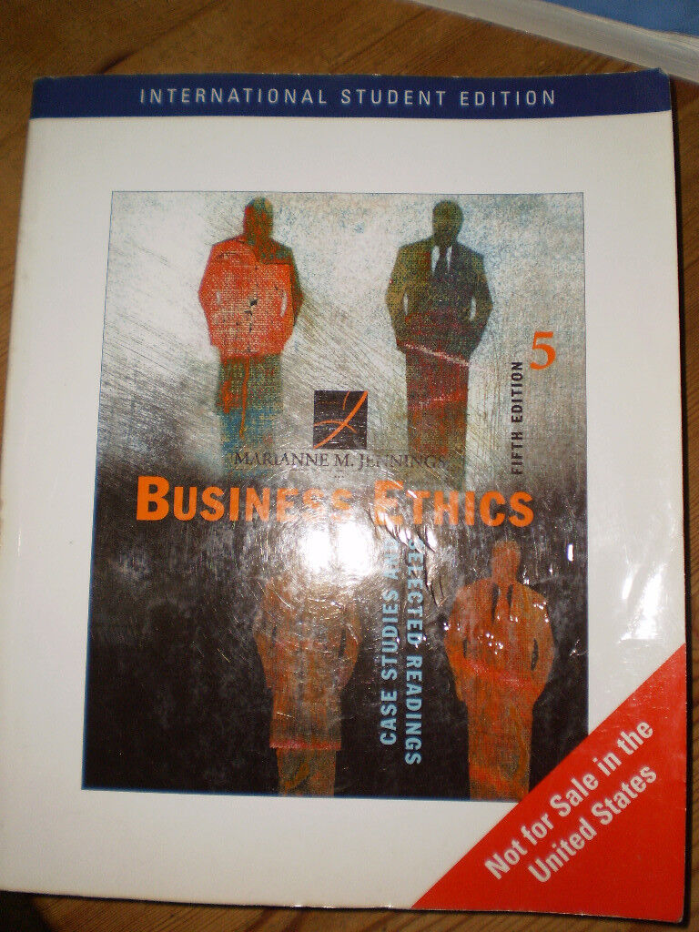University Economics/Mgment book: Business Ethics. Selected Readings and Case Studies.