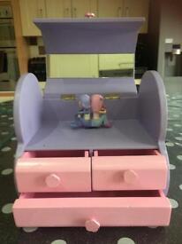 Girls musical jewellery box