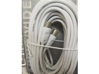 New 5m coaxial aerial to television TV cable