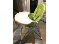 Kids mothercare highchair green like new