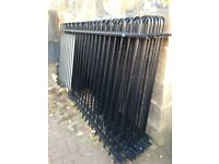 Black metal fencing for sale