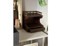 Unusual Wooden Vintage Shelf