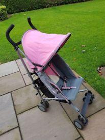 Pink Maclaren buggy