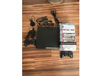 PlayStation 3 with games.