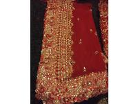 Asian Red Wedding lengha/dress