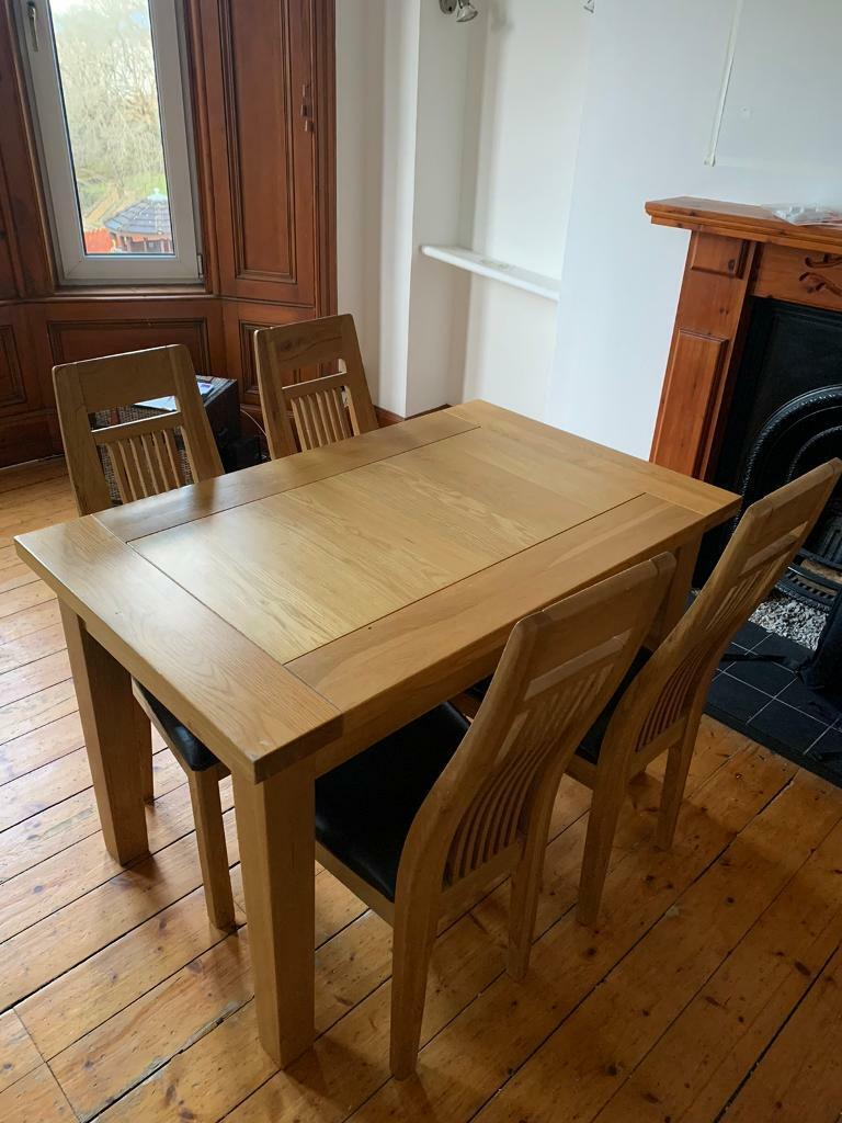 Solid Oak Dining Table and original chairs x9   in Southside, Glasgow    Gumtree