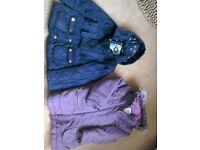 Girls jacket, Verbaudet coat inc detachable gilet age 5-6