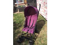 Red Kite Travel Pushchair in Plum / Purple