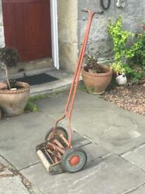 Vintage Qualcast Model B1 rotary mower, barn find