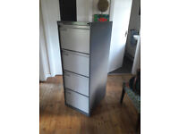 Strong 4 drawer filing cabinet with key