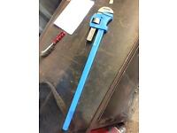 Record pipe tube wrench stillsons spanner 36 inch