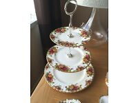 ROYAL ALBERT Old Country Roses Collectable 3 Tier Cake Stand - Afternoon Tea Anyone ....