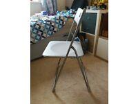 Folding desk chair