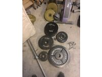7ft barbell plus 95kg of weights