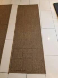 Brown weave runner mat