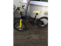 "Kids avigo square bmx bike for sale 16"" 1 front brake needs attention £25"