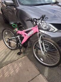 Ladies bicycle for sale. Ladies 15 speed bike. Handle gears. Hardly used. Tyres and bike like new