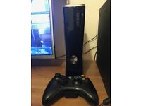 XBOX 360 SLIM 250GB BOXED WITH 25 GAMES ON DISC & HARD DRIVE
