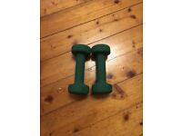 Pair of Green 1.5 KG Dumbells