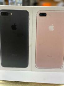 32GB UNLOCKED BRAND NEW BOXED IPHONE 7 PLUS AND APPLE WARRANTY