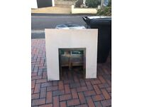 Piece of marble x2 -fire place piece 94x94