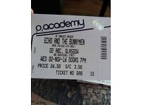 Echo and The Bunneymen Ticket