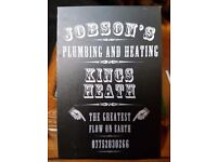 Jobson's Plumbing Kings Heath, punctual and reliable.