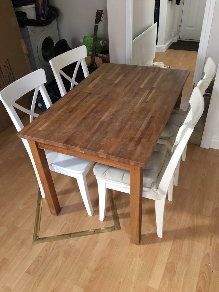 Ikea dining table and 4 chair set
