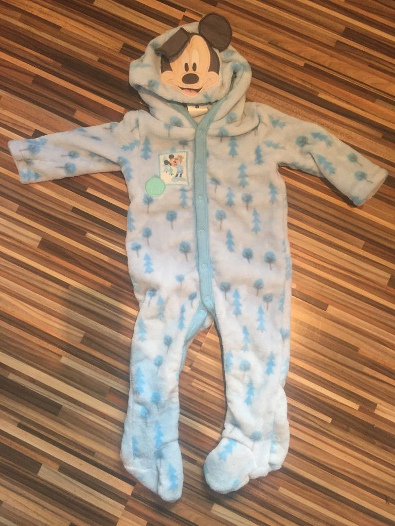 Disney store winter fleece all in one 12-18 months (boys)