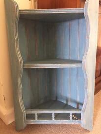 Corner shelf unit shabby chic