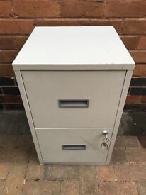 2 Drawer Small Home / Office Filling Cabinet. Lockable with Keys