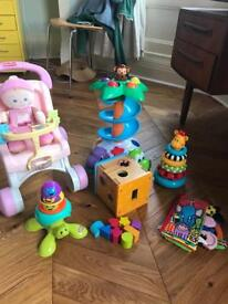 1 year old/ 18 months / 2 year old toy bundle. Fisher price Baby buggie Walker. Shape sorter