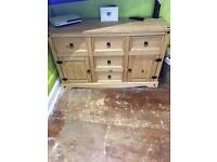 Mexican Pine Corona 5 Draw 2 Door Sideboard