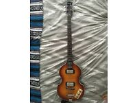 Epiphone Viola Bass guitar and matching Vox Pathfinder-B amp