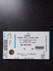 Scooter in concert. Belfast Telegraph Building. Friday 4th May 9pm £30 ono (general admission)