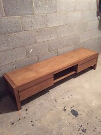 Real Solid Chunky Wood TV Unit