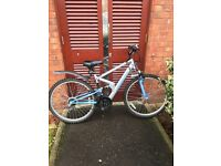 Apollo Ladies Mountain Bike - Dual Suspension. Helmet and Lock also available